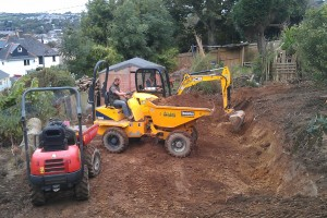 Landscape terracing project, Truro, Cornwall Penzance