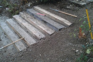 Landscape terracing project, Truro, Cornwall Redruth